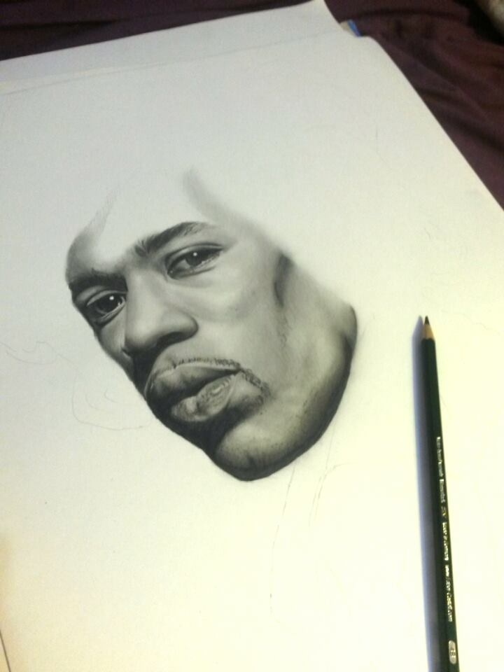 Jimi Hendrix by yamilaalmara